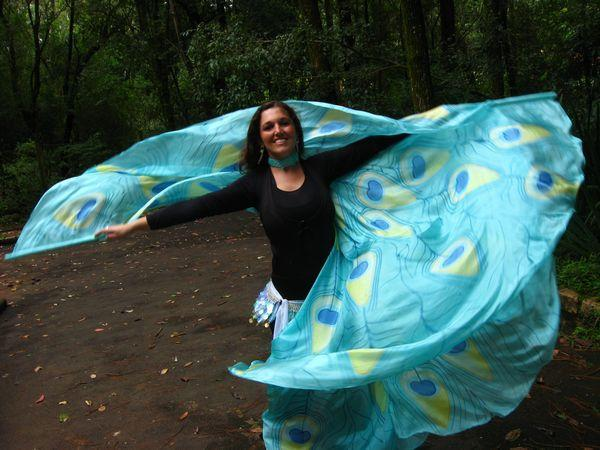 Véu de Seda Wings para Dança do Ventre